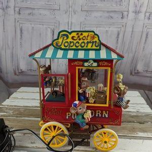 enesco hot popcorn stand cart carnival deluxe 1992